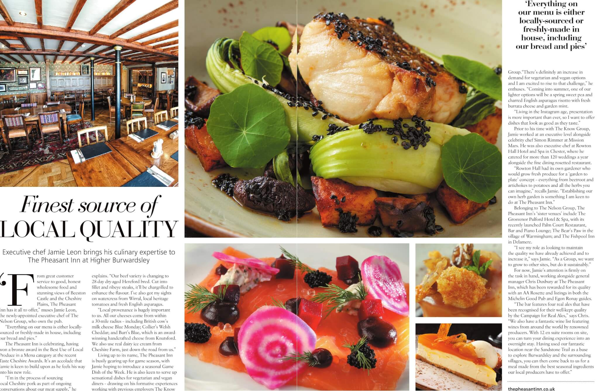 Pheasant Inn Cheshire Living June 2019