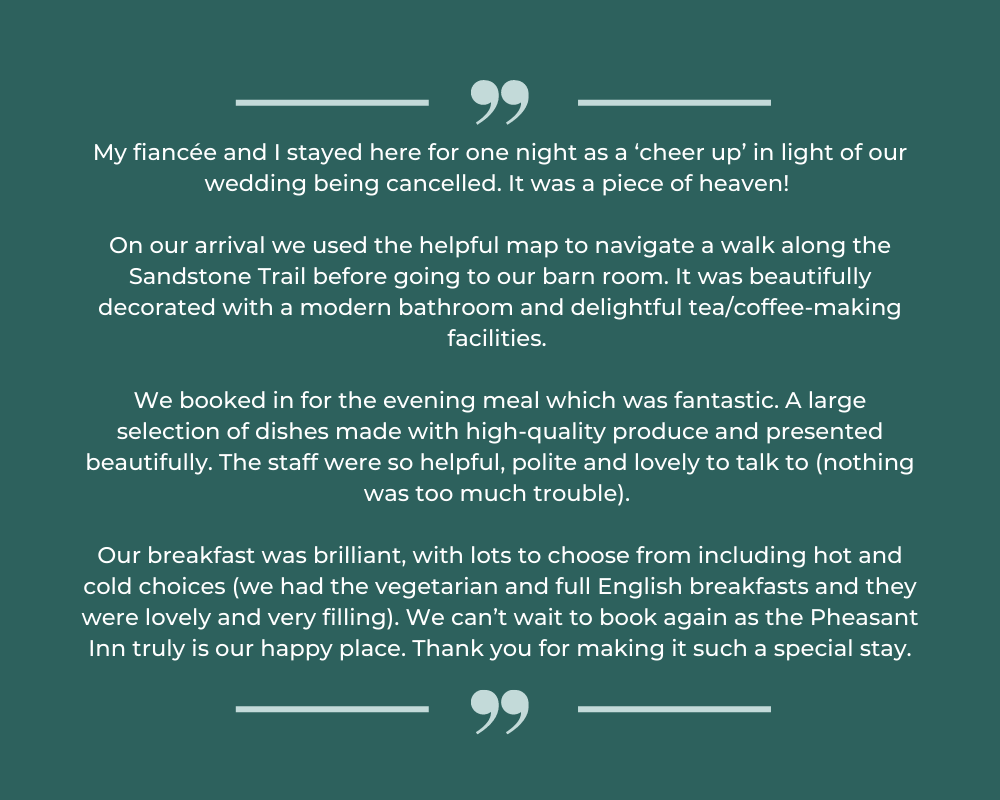 Pheasant Inn reviews
